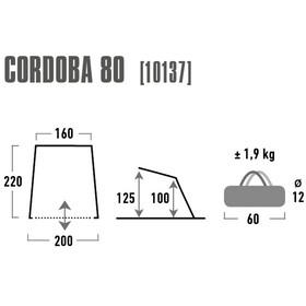High Peak Cordoba 80 Beach Shelter aluminium/dark grey